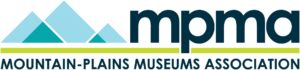 Mountain Plains Museums Association logo with stylized blue and green triangle mountains.