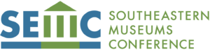 Southeastern Museums Conference logo with green and blue typeface.